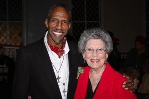 Sam Waymon with Harriet Cornell, Chairwoman of the Legislature of Rockland County, after she presented him with a Proclamation from the Legislature recognizing his accomplishments and naming February 16, 2013 Sam Waymon Day in Rockland County.  Photo by Michael A Frank