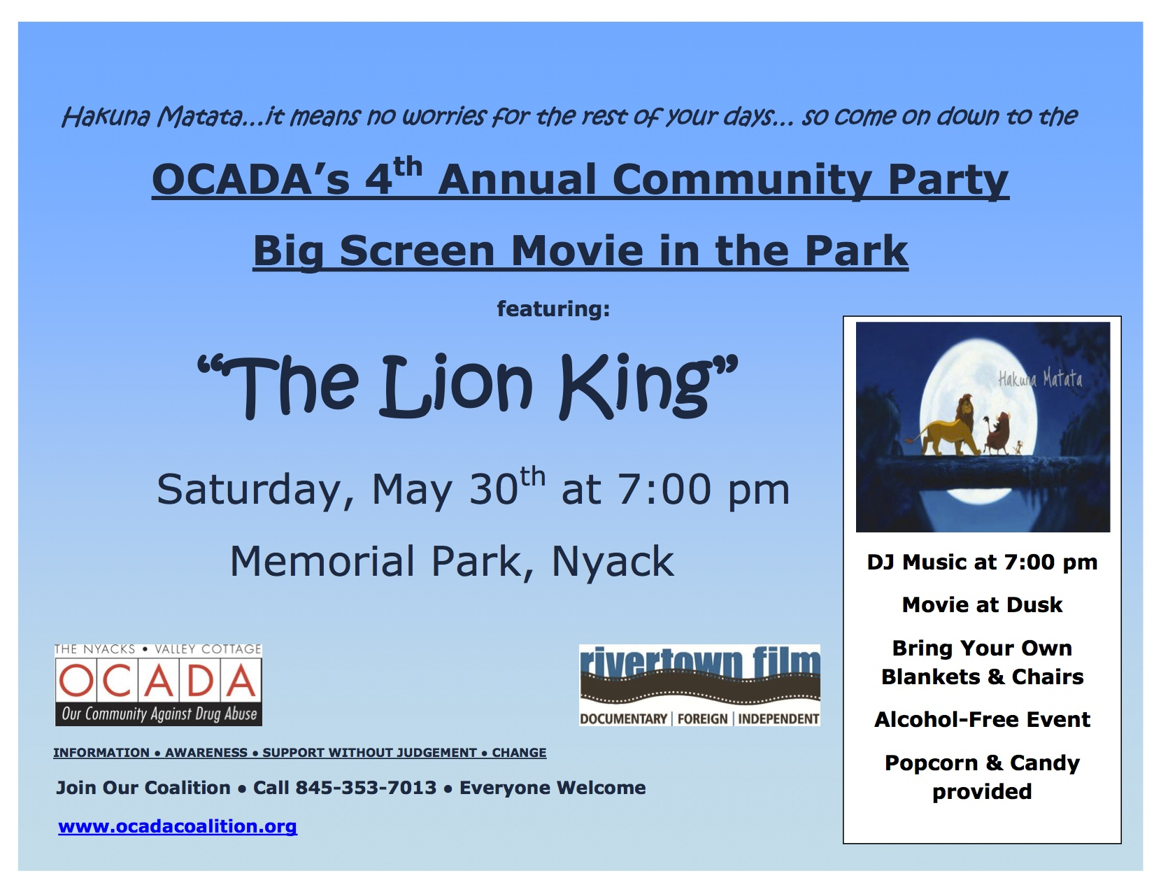 OCADA Community Party Flyer 2015