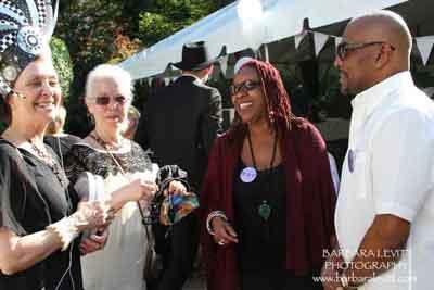 Event Co-chair Sharon Klempner and Volunteer Coordinator Alma Richmond with volunteers Donna Lighfoot-Cooper and John Peaks
