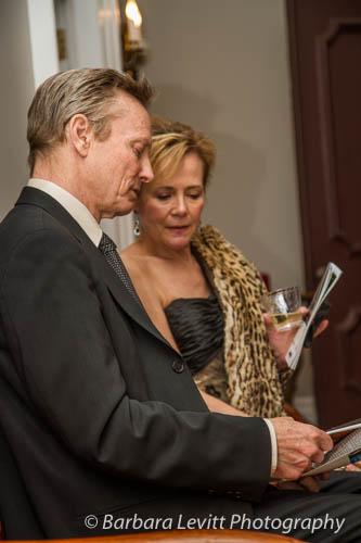 Board member Nancy Phillips with Advisory Board member Bill Irwin