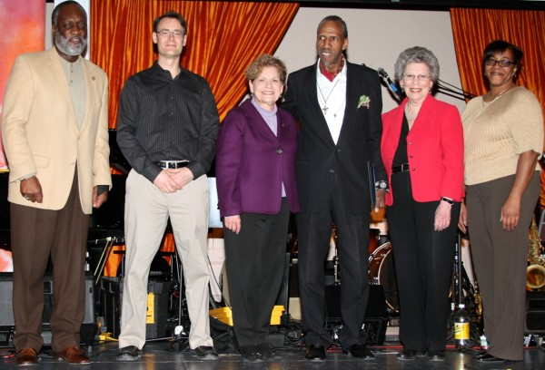 Yuhanna Edwards, City Council President of Mount Vernon; Andy Stewart Orangetown Town Supervisor; Ellen Jaffee, New York State Assemblywoman; Sam Waymon; Harriet Cornell, Chairwoman of the Legislature of Rockland County; Louise Parker, Nyack Village Trustee. Photo by Michael A Frank