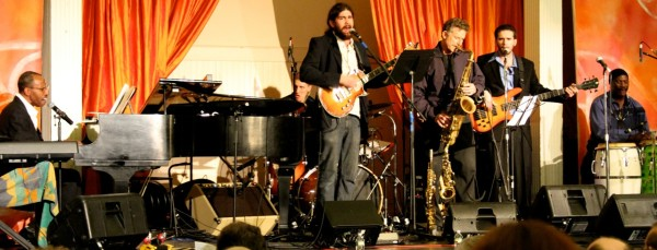 Sam Waymon and The New School Band. Photo by Michael A Frank.